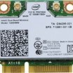 Intel 7260 Wi-Fi/Bluetooth Combo mini PCIE NIC